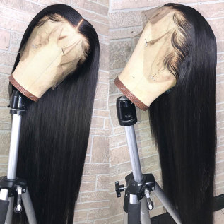 200% Density 13x4 Lace Frontal Glueless Plucked Straight Lace Wigs