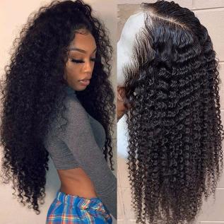 200% Density Short Kinky Curly Lace Wigs