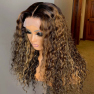 200% Density Omber L3/27 Curly Lace Wigs